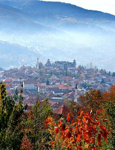 """Morning view in Sarajevo, Bosnia and Herzegovina (by KelSquire). """"...on the wings of detachment soar beyond all created things..."""" -Baha'u'llah"""
