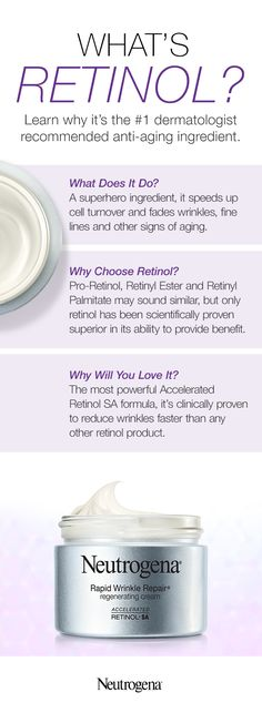 If you haven't tried retinol yet, prepare to have your skincare routine transformed forever. For those new to this powerful ingredient, it's a vitamin A-derived antioxidant that speeds up cell turnover and fades wrinkles, fine lines and other signs of aging. With our Rapid Wrinkle Regenerating Cream, we combined Accelerated Retinol SA – the fastest form of retinol available – with a rich, luxurious moisturizer. You'll wonder how you've lived without it!