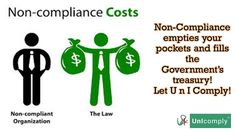 Not complying with #laws #rules empty your pockets & grow Govt #wealth.     Let U n I Comply & make your business fly!