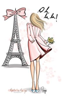Paris is always a good idea Girly Drawings, Art Drawings Sketches, Paris Illustration, Illustrations, Paris Wallpaper, Pink Paris, Fashion Wall Art, Paris Art, Tour Eiffel