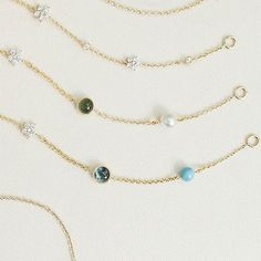 Turquoise, freshwater pearl, blue topaz and green serpentine. To name a few. #gemstones #new #bracelets #18k #gold #shootingstarscollection #magiccircuscollection #diamonds #charlottelynggaard #olelynggaard #olelynggaardcopenhagen @charlottelynggaard_dk
