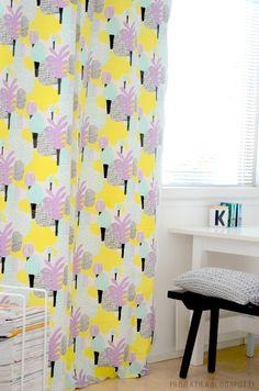 Kauniste fabrics - Muilla Mailla curtains in Projektila blog.
