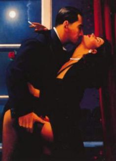 Jack Vettriano - Night geometry  Ok this is the last one I'm posting.  But ladies....really!!