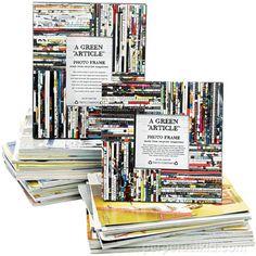 Portarretratos con papel