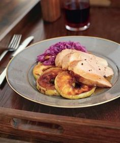 Glazed Pork Tenderloin with Sugared Apples from realsimple.com #myplate #protein #fruit