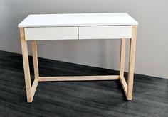BIURKO z szufladami DES5, nogi drewniane, styl skandynawski | 345,00zł