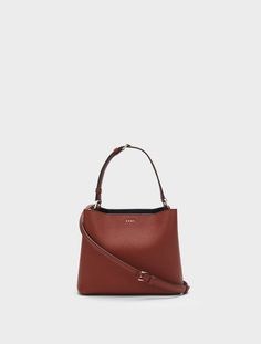 DKNY Small Bucket Bag. #dkny #bags #leather #lining #bucket #shoulder bags #hand bags #cotton #