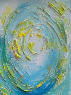 """""""goccia nel lago"""" acrilico e stucco su tela 2011"""