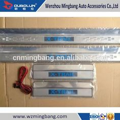 Car Accessories Stainless steel scuff Plate Illuminated LED Door Sills for 2014 Ni-ssan X-Trail