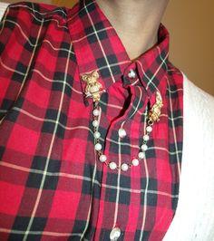 Cardigan clip used on collar!