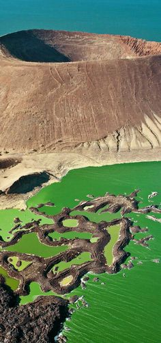 Neblyotum crater in lake Turkana Kenya