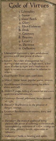 code of virtues