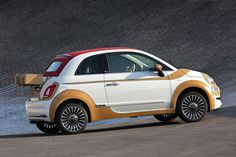 the fiat 500 i defend gala 2015 edition features natural honey gold calfskin trim, a noticeable picnic basket and mirror domes are covered in mahogany wood. Fiat 500 Cabrio, Fiat 500c, Fiat Abarth, 2015 Fiat 500, Automobile, New Fiat, Fiat Cars, Italian Lifestyle, Love Car