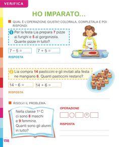 Matita e gomma 1 - Matematica School Worksheets, Math For Kids, Home Schooling, Michelangelo, Teaching Math, Luigi, Study, Children, Geography