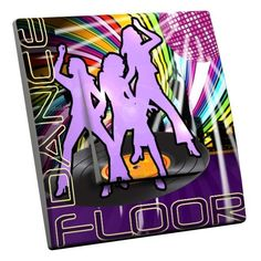 Interrupteur décoré Dance floor simple - Decorupteur
