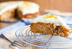 Angela Casley's take on this classic recipe sees spiced, nutty carrot cake paired with lush cream cheese icing to create a cake that will never go . Quick And Easy Breakfast, Savory Breakfast, Vegan Breakfast Recipes, Healthy Recipes, Cream Cheese Icing, Cream Cheeses, Baking Recipes, Cake Recipes, Smooth Icing