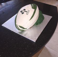 Irish rugby ball cake