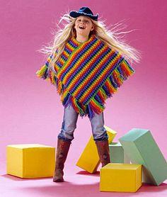 Poncho Infantil em Crochê para Iniciantes - Katia Ribeiro Crochê Moda e Decoração Handmade