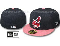Clevaland Indians 2-Tone Heather Action 59Fifty Fitted Baseball Cap by NEW ERA x MLB