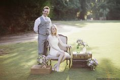428 Main Vintage Rentals -Eva Chairs & Suitcases (photography by Paige Winn Photo)