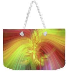 """Alliance Of Sun And Earth Weekender Tote Bag (24"""" x 16"""") by Jenny Rainbow.  The tote bag includes cotton rope handle for easy carrying on your shoulder.  All totes are available for worldwide shipping and include a money-back guarantee."""