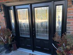 Double Steel Entry Door w/ Evangeline lites Entry Doors, Windows, Steel, Front Doors, Steel Grades, Window, Entrance Doors, Ramen