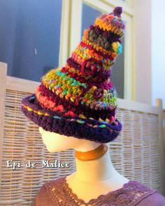 Witch witchy fairy gnome pixie Hat pointed hat. by EpiDeMalice