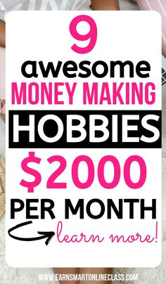 Searching for hobbies to make money this year? Get these 15 awesome money making. Searching for hobbies to make money this year? Get these 15 awesome money making. Online Surveys For Money, Earn Money From Home, Online Income, Earn Money Online, Make Money Blogging, Online Jobs, Money Tips, Money Saving Mom, Money Hacks