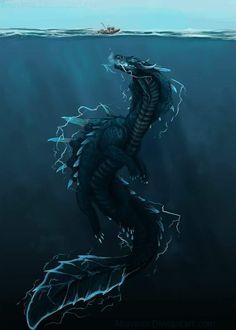 """Askel"" by Akayana @ deviantart Monster Hunter Art, Monster Art, Evolve Monster, Mythical Creatures Art, Mythological Creatures, Magical Creatures, Water Dragon, Sea Dragon, Creature Concept Art"