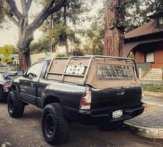 Roof Rack with Rollbar Truck Roof Rack, Truck Flatbeds, Truck Tent, Truck Mods, Toyota Pickup 4x4, Toyota Tacoma 4x4, Tacoma Truck, Pickup Camping, Truck Bed Camping