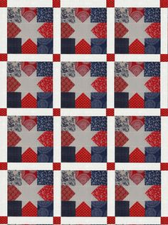 Red,White, and Blue Quilt Blocks