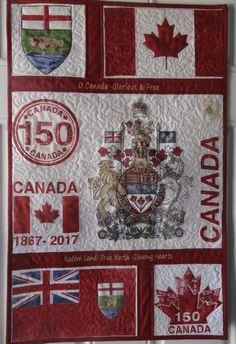 My cousin Donna Hartle from Manitoba made this quilt for Canada's Can we share it across the Country by Canada Day? Canadian Things, I Am Canadian, Canadian Quilts, Quilts Canada, Canada Maple Leaf, Canada 150, Leaf Crafts, Quilting Projects, Quilting Ideas