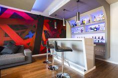 barra bar, botillero colores, sala de cine