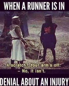 """How I ended up in a cast for 6 weeks once upon a time. """"'Tis but a flesh wound!"""""""