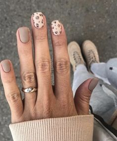 2019 Stunning Leopard Print & Snakeskin Pattern Nails Art Ideas - Page 4 of 4 - Vida Joven Cute Short Nails, Short Nails Art, Cute Nails, Pretty Nails, Nail Patterns, Pattern Nails, Leopard Nails, Leopard Nail Designs, Neutral Nail Designs