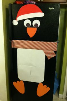 My penguin fridge, since I don't have a white fridge for a snowman!