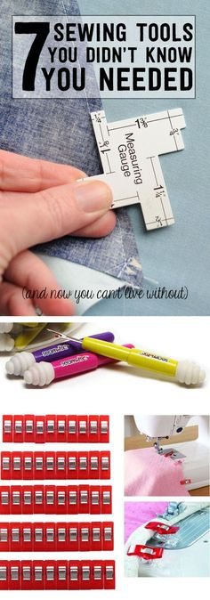 7 of my favorite Sewing Tools and Notions - great list if you're learning how to sew.