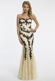 Dave and Johnny two tone lace sweetheart dress with contrasting lace appliques and godets, this is a beautiful dress, it's 300 if Mikklynn wants it. Look at some from Gown Gallery.