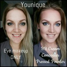 Younique bb cream and concealer