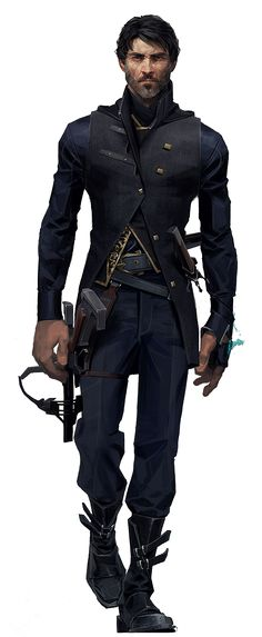Corvo Attano Corvo Attano is the protagonist of Dishonored and one of the two playable protagonists Character Creation, Character Concept, Character Art, Concept Art, Mode Steampunk, Dishonored 2, Sci Fi Characters, Character Portraits, Shadowrun