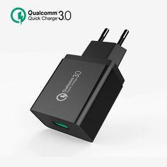 Carga rápida 3.0 RÁPIDA USB Cargador de Pared EU Plug Qualcomm QC3.0 mini auto de viaje de carga para apple iphone 6 s htc & smartphone