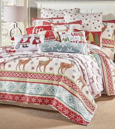 Copripiumino Wikipedia.13 Best Holiday Bedding Images Christmas Bedding Bed Queen Quilt