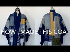 I am so pleased so many people love the boro-inspired patchwork coat I made. I find handstitching projects very relaxing, so I occasionally make/upcycle thin. Quilted Clothes, Sewing Clothes, Sewing Coat, Shibori, Fashion Figure Templates, Boro Stitching, Sashiko Embroidery, Abstract Embroidery, Kimono Coat