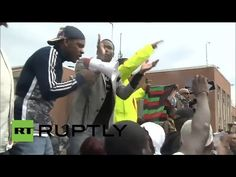 RAW: Freddie Gray protesters flood Baltimore, demand punishment of cops - YouTube