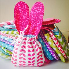 .Easter bunny eared jelly bean bags!