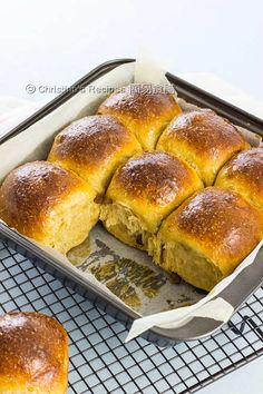 黑糖提子全麥餐包【軟綿湯種包包】Tangzhong Sultana Wheat Buns from 簡易食譜