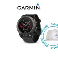 Orologi sportivi e cardio : GARMIN fenix 5 X Sapphire Grey Black ART.010-01733-01 con OMAGGIO