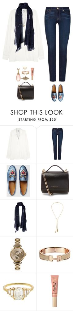 """I'm getting married next week and i cat sleep"" by xoxomuty on Polyvore featuring Vince, 7 For All Mankind, Gucci, Givenchy, Rundholz, Bølo, Shinola, Too Faced Cosmetics, Christian Dior and BrideToBe"
