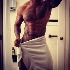 Renaldo's body after he showers and returns to bed with Kyra!