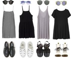 I love black and white outfits